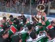 """HK """"Liepāja"""" svin Latvijas hokeja čempionu titula izcīnīšanu"""