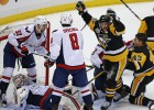 ''Penguins'' un ''Capitals'' periodā iemet deviņas ripas, Vašingtonai pārtrūkst sērija