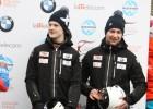 Latvijas kamaniņu sporta izlasei pievienojusies divnieku ekipāža Bots un Plūme