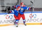 Krievijas olimpiskā izlase iemet astoņas ripas norvēģu cietoksnī