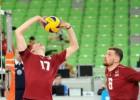 Latvijas volejbola izlasei pret Gruziju cīņa par pirmo uzvaru