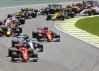 Fetels startā apdzen Botasu un uzvar Brazīlijas <i>Grand Prix</i>