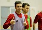 Latvijas telpu futbola izlase Jelgavā gatavojas Baltijas kausam