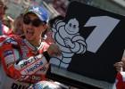 """Lorenso gūst pirmo uzvaru kvalifikācijā """"Ducati"""" sastāvā"""