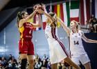 Latvijas U20 meitenes otrajā puslaikā pret Vāciju atspēlē 27 no 30 punktiem