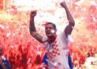 """Horvātu aizsargs Lovrens pēc zaudējuma finālā: """"Francija nespēlēja futbolu"""""""