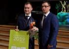 """Nitišs un volejbola komanda """"Jēkabpils Lūši"""" iegūst balvas Jēkabpils sporta laureātā"""