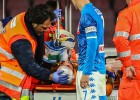 """""""Napoli"""" vārtsargam Ospinam nekonstatē nopietnas problēmas pēc saļimšanas"""