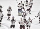 Latvijas hokeja izlase var būt palikusi tikai vienas vietas attālumā no Pekinas OS