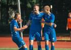 Centra aizsargs Jagodinskis gūst piektos vārtus sezonā un atnes RFS uzvaru
