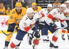 Ābols NHL pirmssezonā debitē ar diviem metieniem un sakāvi, Bļugeram +2