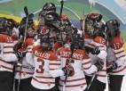 Sieviešu hokeja turnīra finālā Kanāda un ASV