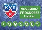 """Konkurss: """"KHL novembra prognozes kopā ar Unibet.com"""""""