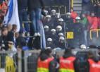 """Berlīnes """"Hertha"""" par fanu ālēšanos piespriež 100 000 eiro naudas sodu"""