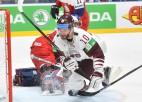 Latvijai divi 25 minūšu noraidījumi, četri ielaisti vārti periodā un zaudējums