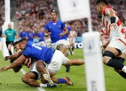 Japāna pārspēj Samoa un mača izskaņā tiek arī pie bonusa punkta