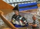 Vētras komandai ārkārtas situācija viesos: upe applūdina Eirolīgas kluba zāli