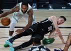 """Pēc pārsteidzošās uzvaras """"Nets"""" piedzīvo sagrāvi pret Bostonas """"Celtics"""""""