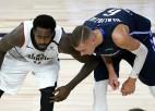 """Video: Porziņģim 30+9 Disneja Pasaulē, cīnoties pret spēcīgo """"Clippers"""""""