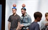 Foto: Latvijas izlases spēlētāji un fani tiekās Spicē