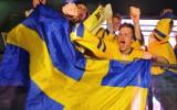 Foto: Zviedri priecājas par zelta medaļām pasaules čempionātā