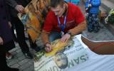 Foto: Gulbeniešu simti sagaidījuši olimpisko medaļnieku Dreiškenu