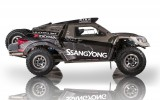 """Foto: """"SsangYong"""" rūpnīcas komanda prezentē iespaidīgo Dakaras auto"""