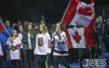 Foto: Izlase aizvada pirmo dienu pasaules čempionāta norises vietā Belvilā