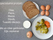 Fotorecepte: Sātīgā omlete soli pa solim