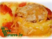 Fotorecepte: Pildīti kabači tomātu sautējumā