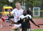 Latvijas U21 izlase ātri ielaiž trīs vārtus un ar 0:2 zaudē Beļģijai