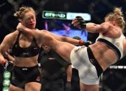 Holma nokautē Rouziju un šokē cīņu sporta pasauli