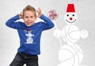 Bērnu garroku krekls Sniegavīrs