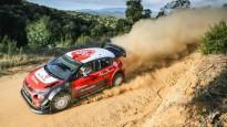 Lēbs pirmo reizi piecu gadu laikā ar WRC auto <i>vago</i> grants ceļus