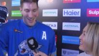 KHL rezultatīvais kanādietis Dics televīzijā pirmoreiz komentē krievu valodā