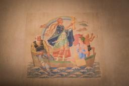 Ar Borisa un Ināras Teterevu fonda atbalstu vēsturiskajā Dzintaru koncertzālē izgaismoti Anša Cīruļa sienu gleznojumi