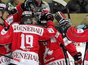 Špenglera kauss hokejā:Kanādas eiropiešu izlase sagrauj čehu ''Vitkovice'' komandu