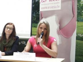 """Video: Sabīne Niedola atbalsta krūts veselības iniciatīvu """"Es iešu!"""""""