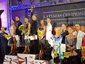 Jauns čempionu pāris Latīņamerikas dejās pieaugušajiem