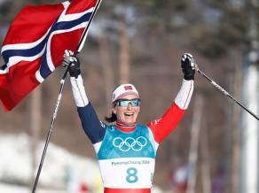 Ar Bjergenas triumfu 30 km slēpojumā noslēdzas olimpisko spēļu sacensības