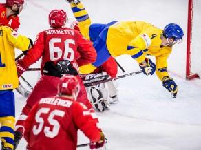 Zviedrija atspēlējas un spēj uzveikt arī Krievijas hokejistus