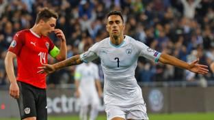 """Zahavi izceļas ar """"hat-trick""""; Izraēla sagādā otro zaudējumu Austrijai"""