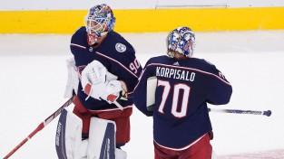 """Tortorella: """"Ja mums nebūtu Korpisalo un Merzļikina, mēs nebūtu """"play-off"""""""""""