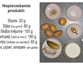 Fotorecepte: Kartupeļu un siļķu salāti soli pa solim
