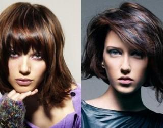 Stilīgas frizūras pusgaru matu īpašniecēm