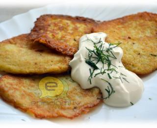 Fotorecepte: Kartupeļu pankūkas soli pa solim