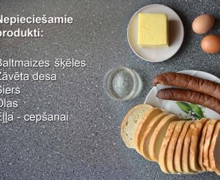Fotorecepte: Brokastu karstmaizītes soli pa solim