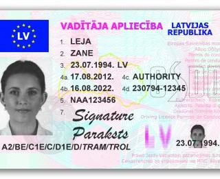 Latvijā tiek izsniegtas jauna parauga transportlīdzekļu vadītāja apliecības
