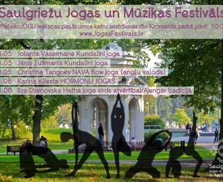 """Saulgriežu jogas un mūzikas festivāls piedāvā ieskaņas pasākumu sēriju """"Pielaiko jogu parkā!"""""""