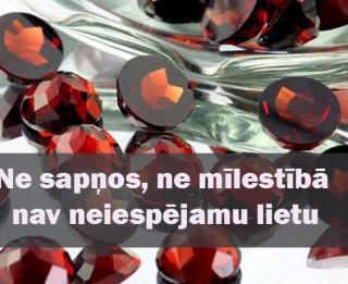 17.februāra dienas akmens- ALMANDĪNS un PIROPS